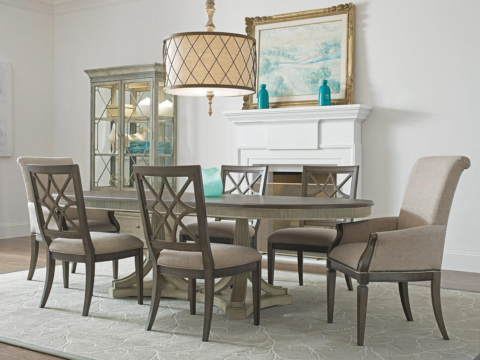 Savona Dining Table, Side Chair, Arm Chair by American Drew at Johnny Janosik