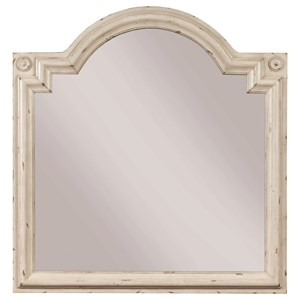 Bureau Mirror with Top Accent