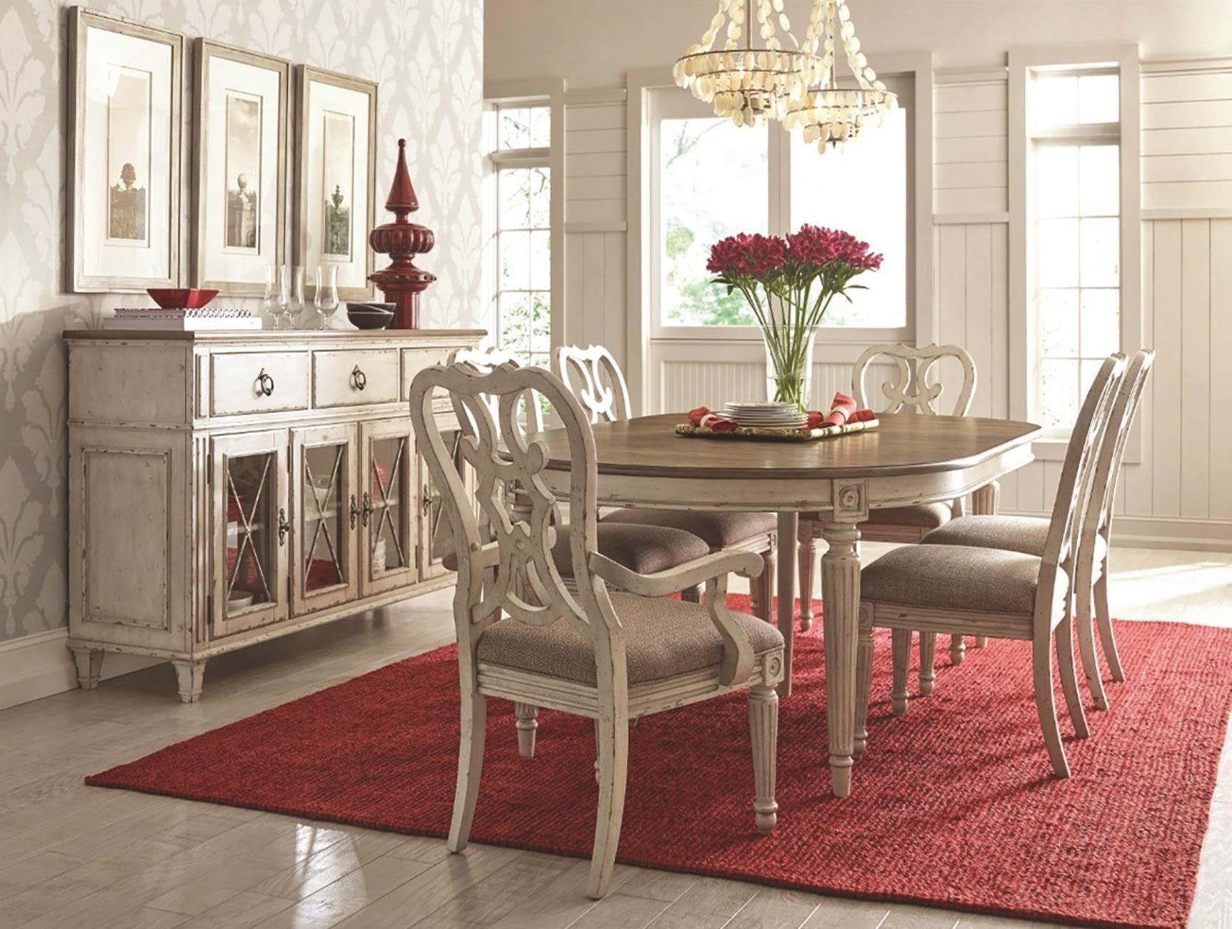 SOUTHBURY  5 Piece Dining Set Includes Table and 4 Side by American Drew at Darvin Furniture