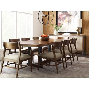 Contemporary Formal Dining Room Group with Rectangular Table
