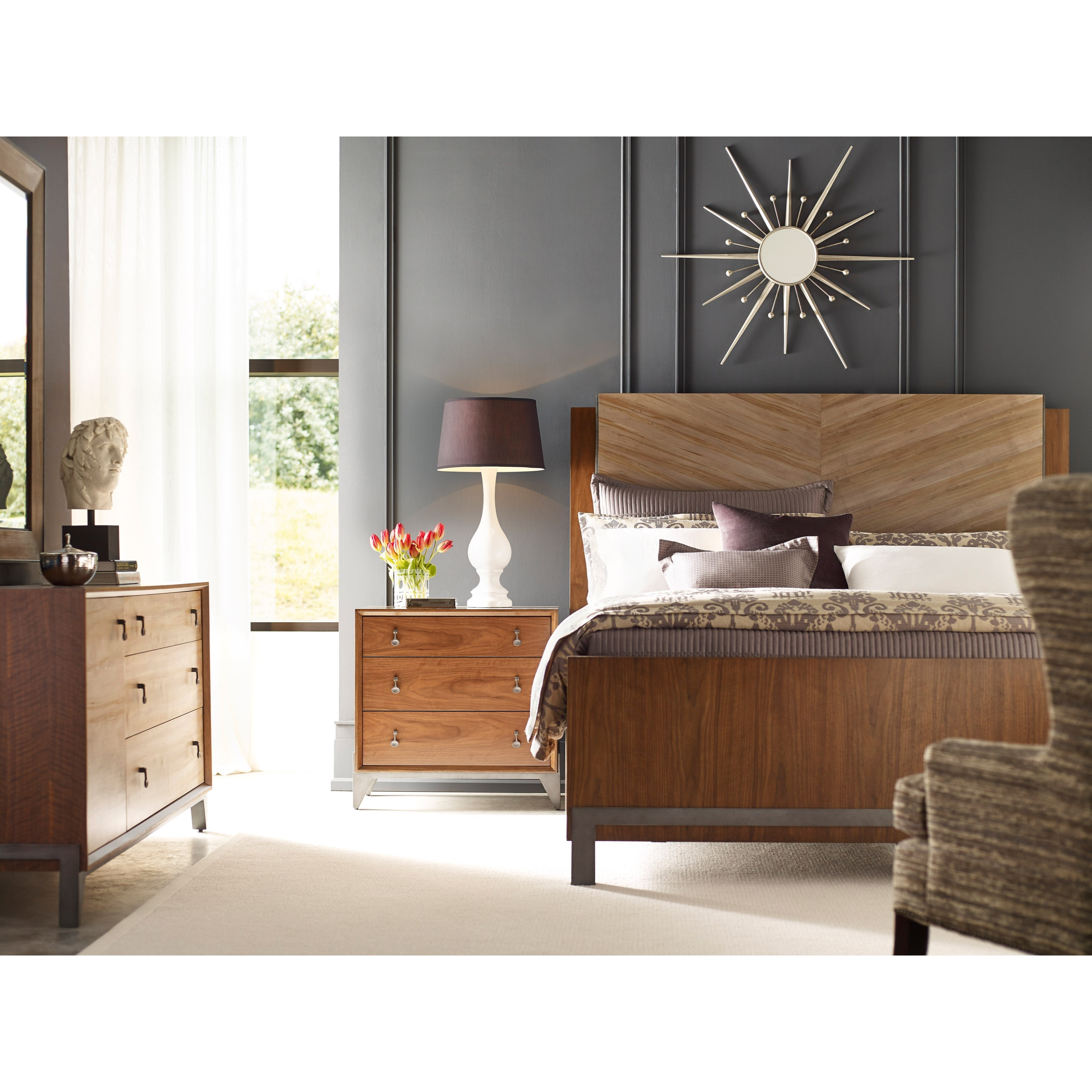 american drew modern synergy contemporary queen bedroom