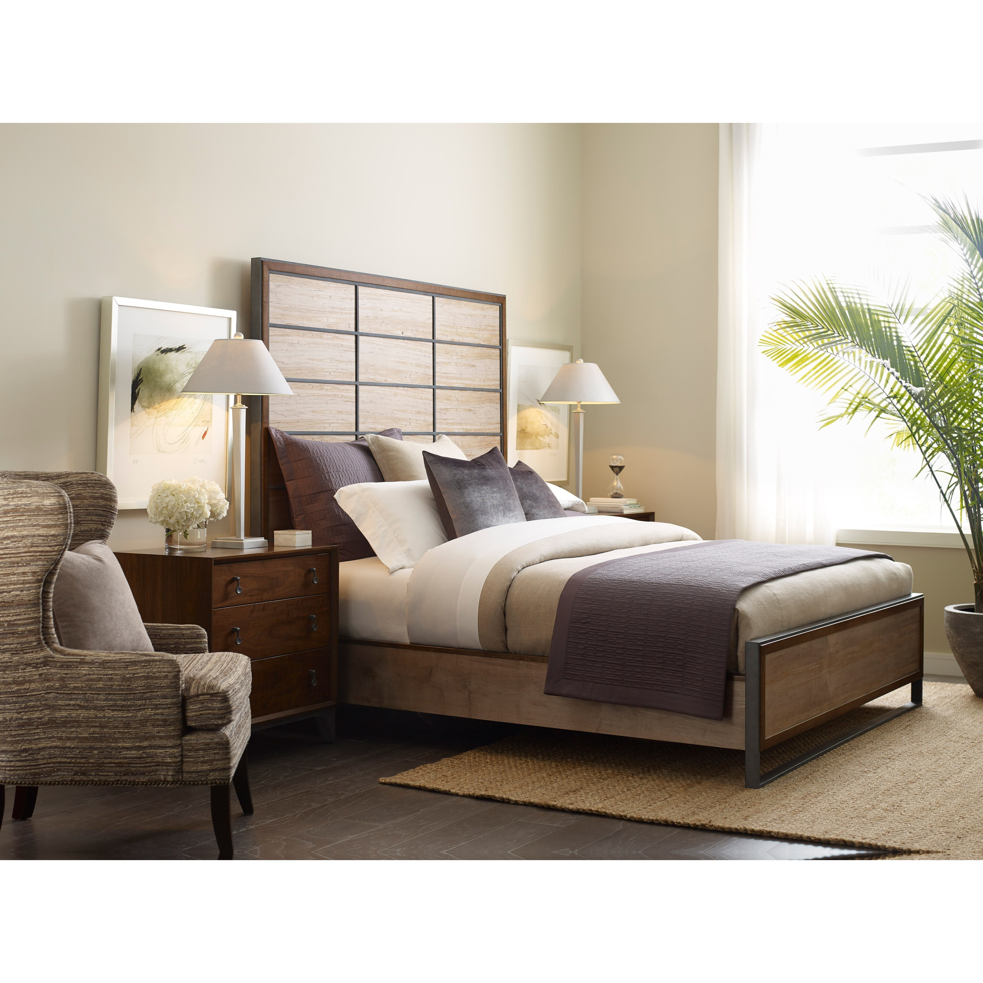 Modern Synergy Queen Bedroom Group by American Drew at Stoney Creek Furniture