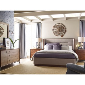 Contemporary Queen Upholstered Bedroom Group