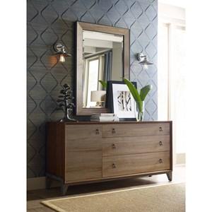 Nouveau Dresser and Perspective Mirror
