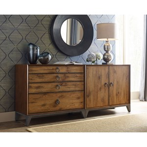 Contemporary Bunching Dresser with Removable Wine Rack