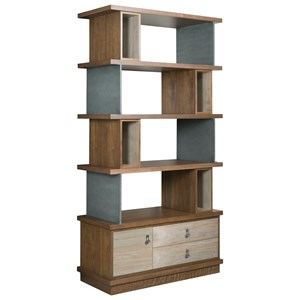 Contemporary Epoque Bookcase with File Drawer