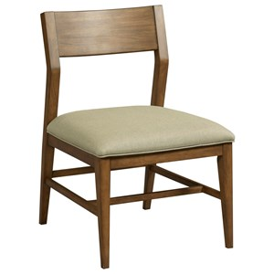 Contemporary Vantage Side Chair with Upholstered Seat