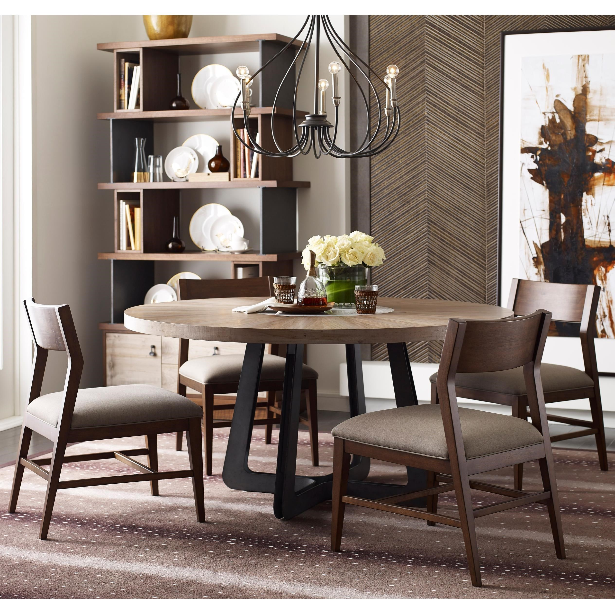 Modern Synergy Round Table and Chair Set by American Drew at Alison Craig Home Furnishings