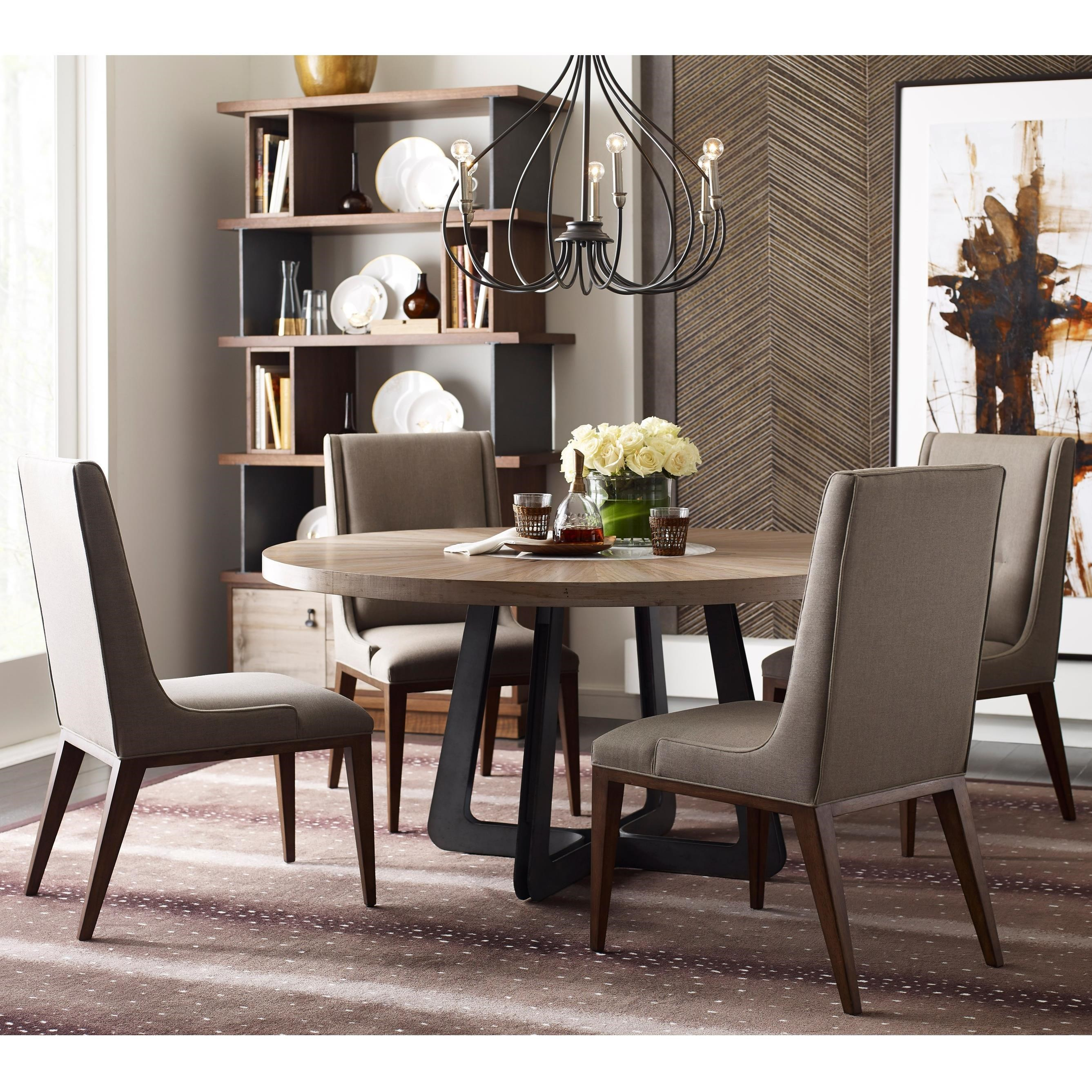 Modern Synergy Round Table and Chair Set by American Drew at Stoney Creek Furniture