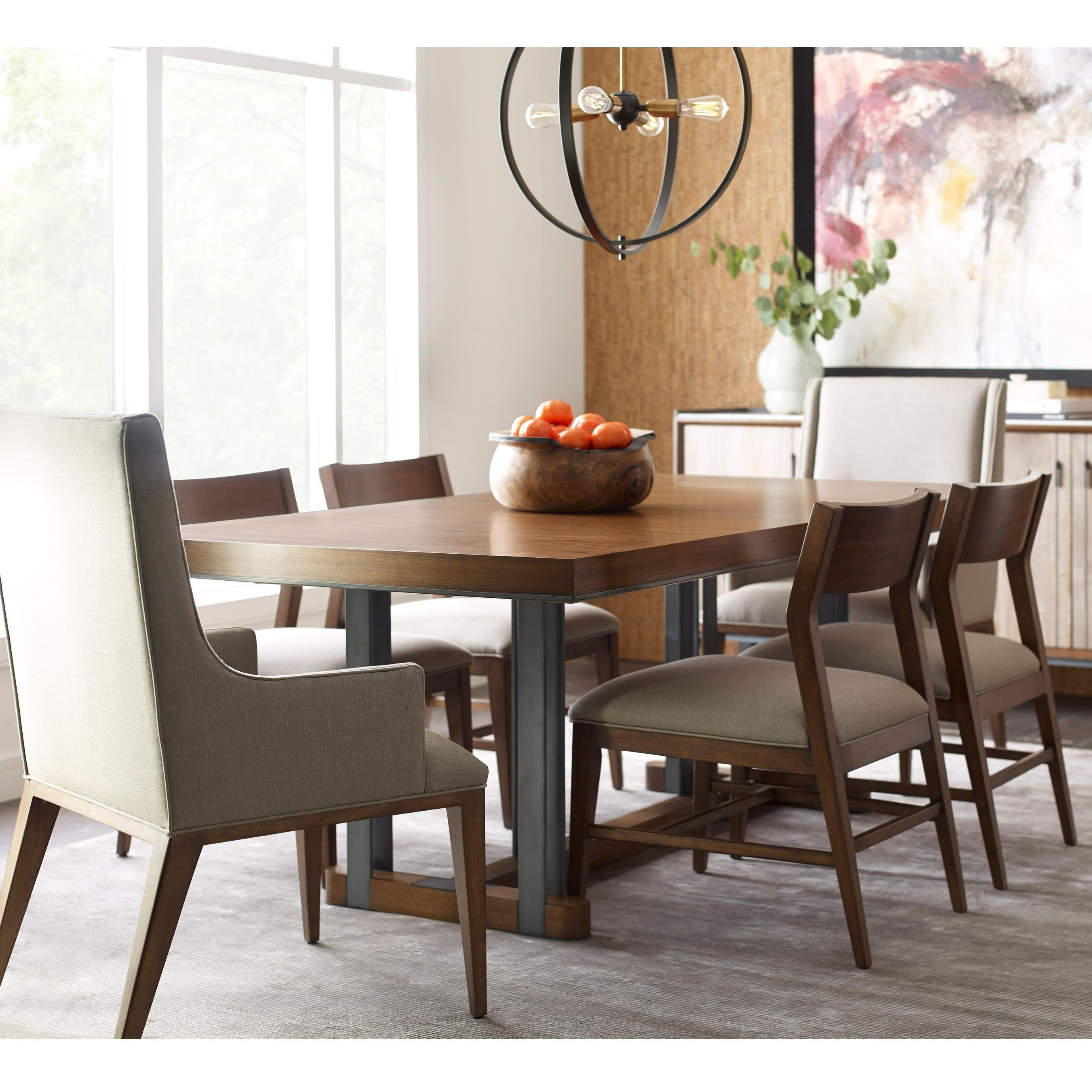 Modern Synergy Rectangular Dining Table and Chair Set by American Drew at Stoney Creek Furniture