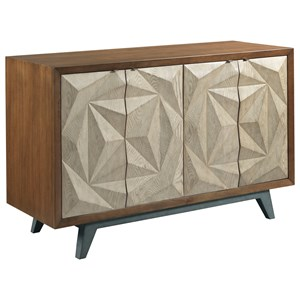 Contemporary Morphe Console with Adjustable Shelves