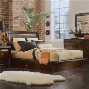 American Drew Tribecca King Platform Bed with Underbed Storage