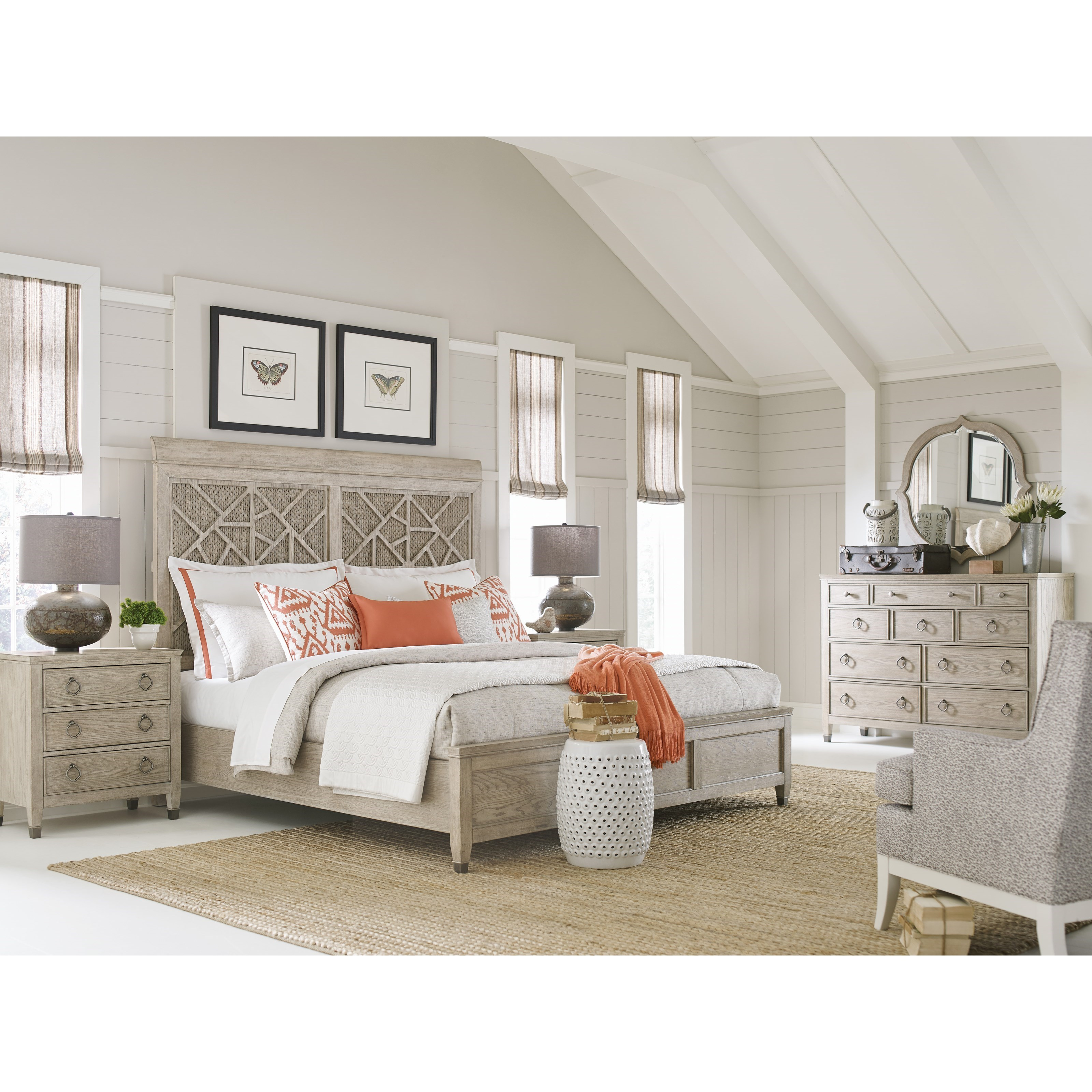 Vista California King Bedroom Group by American Drew at Esprit Decor Home Furnishings