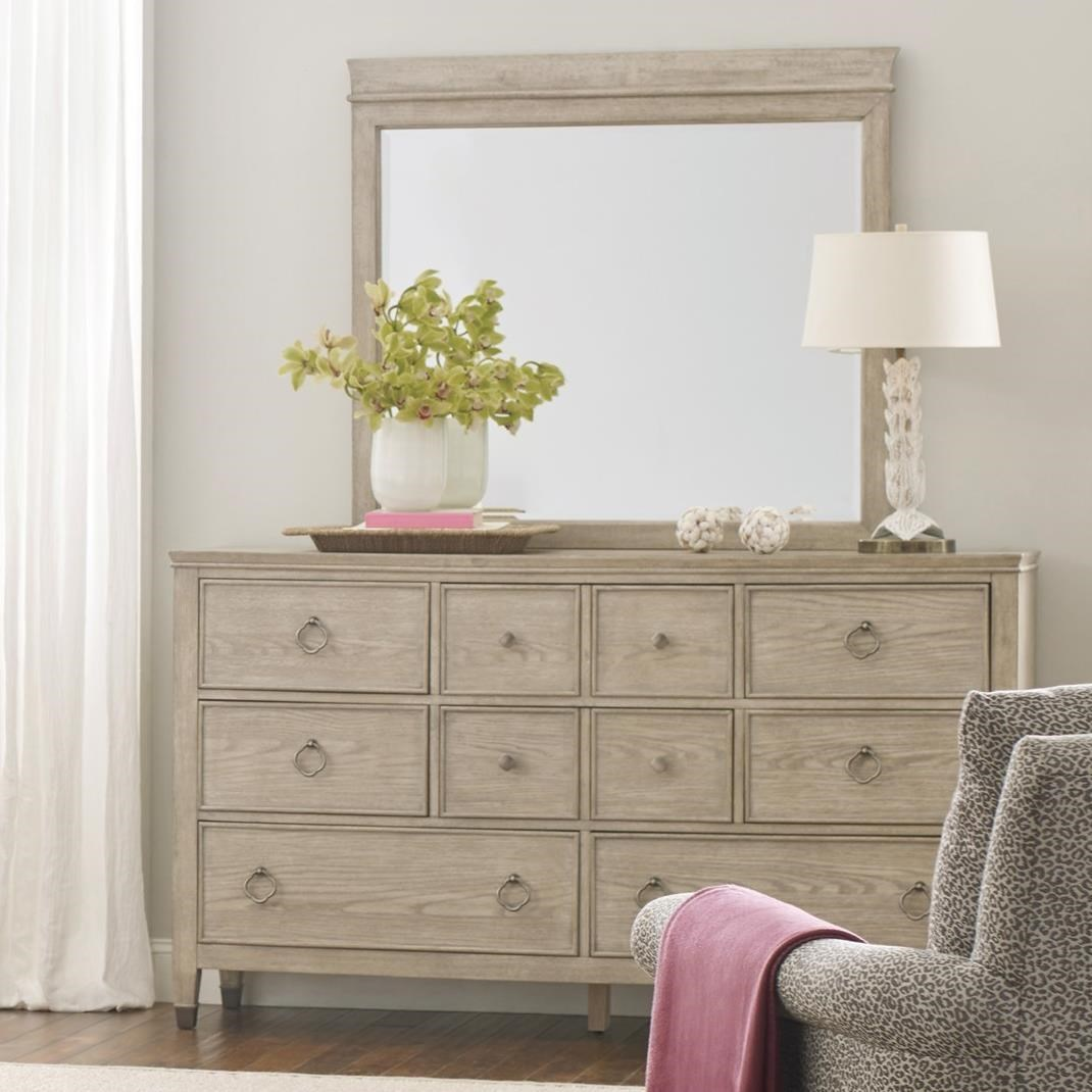 Vista Fremont Dresser and Mirror Set by American Drew at Stoney Creek Furniture