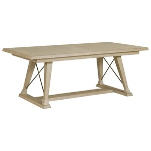 Relaxed Vintage Clayton Trestle Dining Table with Two Leaves