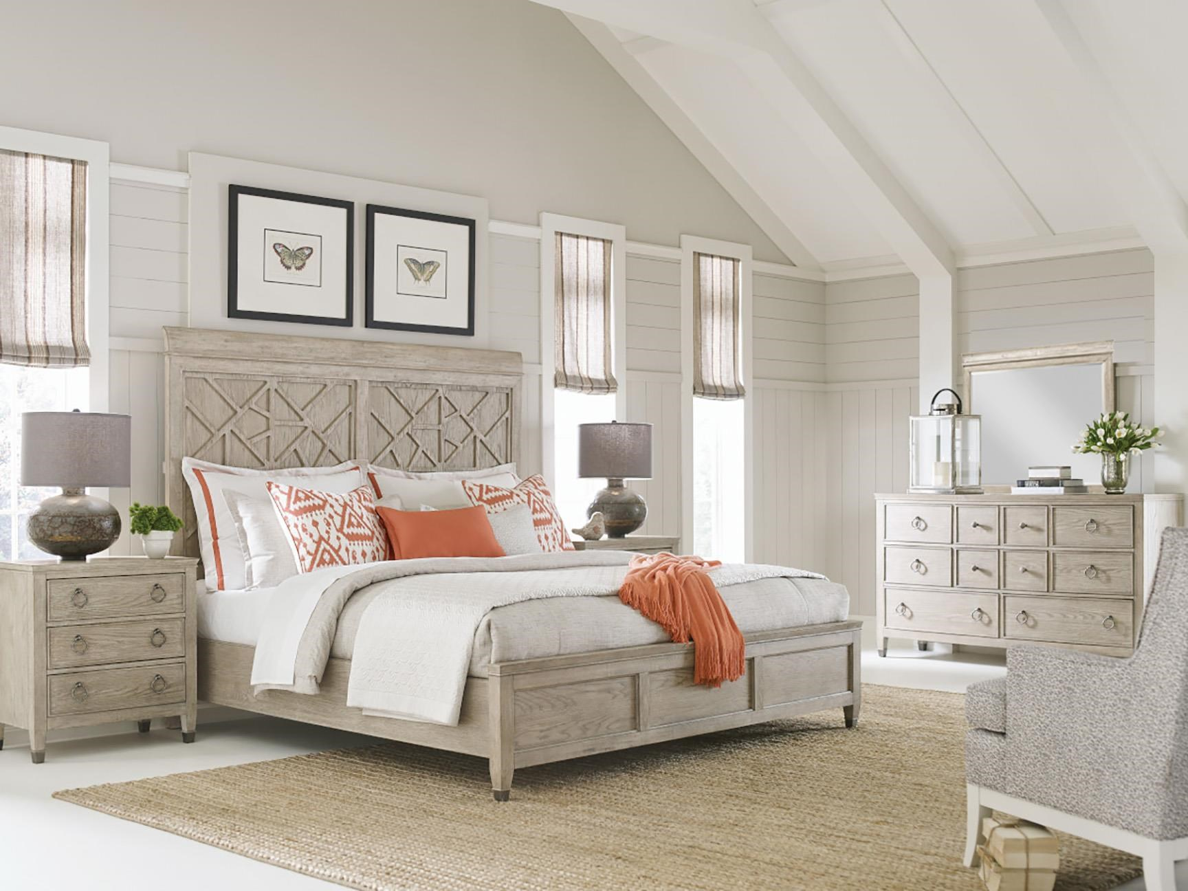 Vista Queen Bed, Nightstand, Dresser and Mirror by American Drew at Johnny Janosik