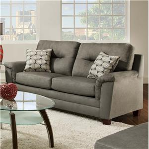 Contemporary Sofa with Two Seat Cushions