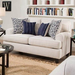 Casual Styled Loveseat