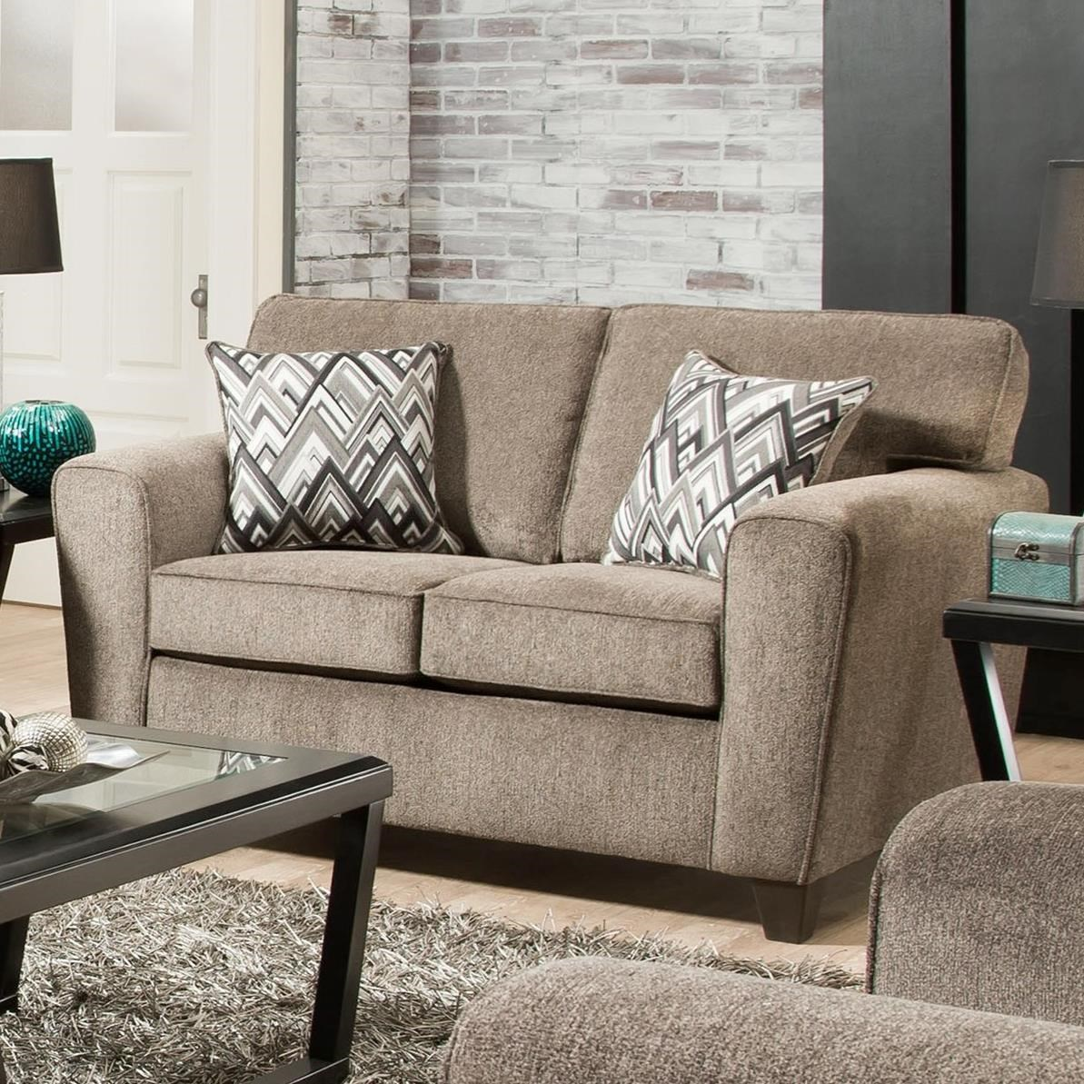 3100 Loveseat with Casual Style by Peak Living at Prime Brothers Furniture
