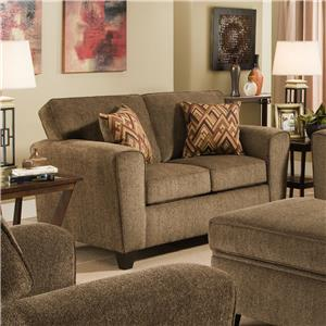 Loveseat with Rounded Track Arms
