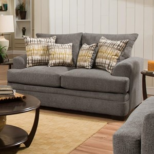 Casual Loveseat with 2 Seats
