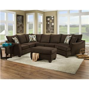 American Furniture 3810 Sectional Sofa