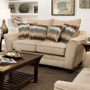 Elegant Loveseat with Contemporary Style