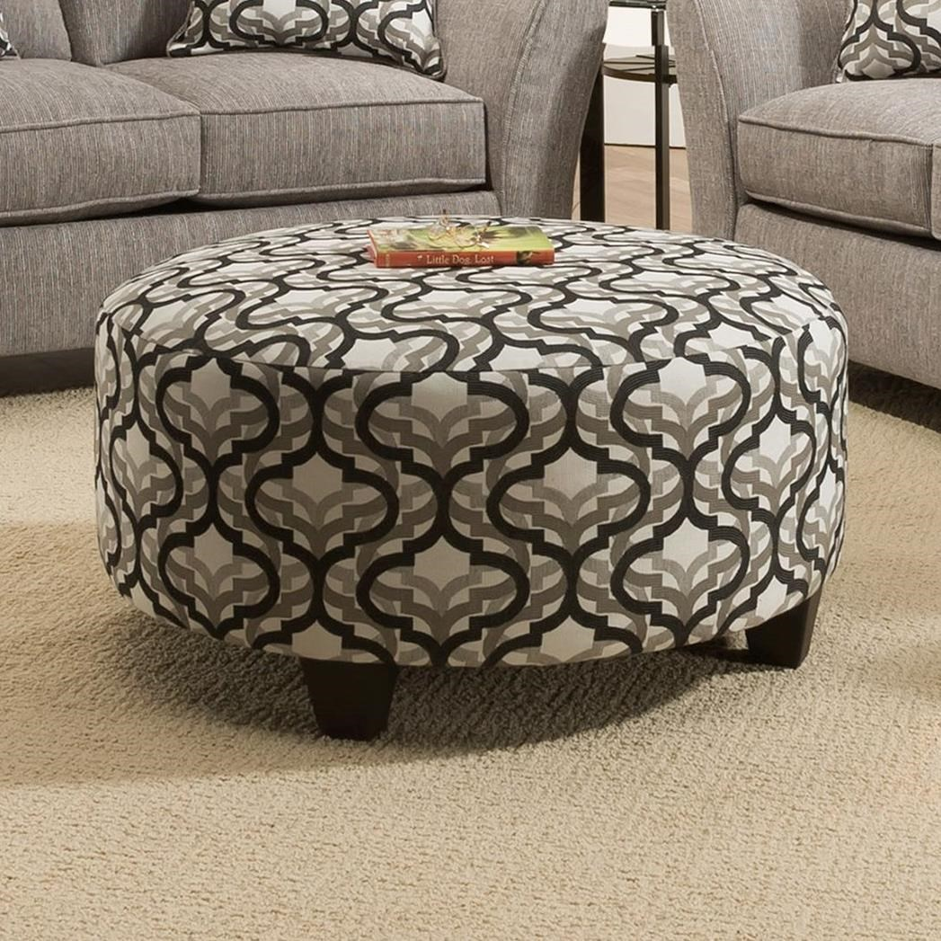 4550 Round Ottoman by Peak Living at Prime Brothers Furniture