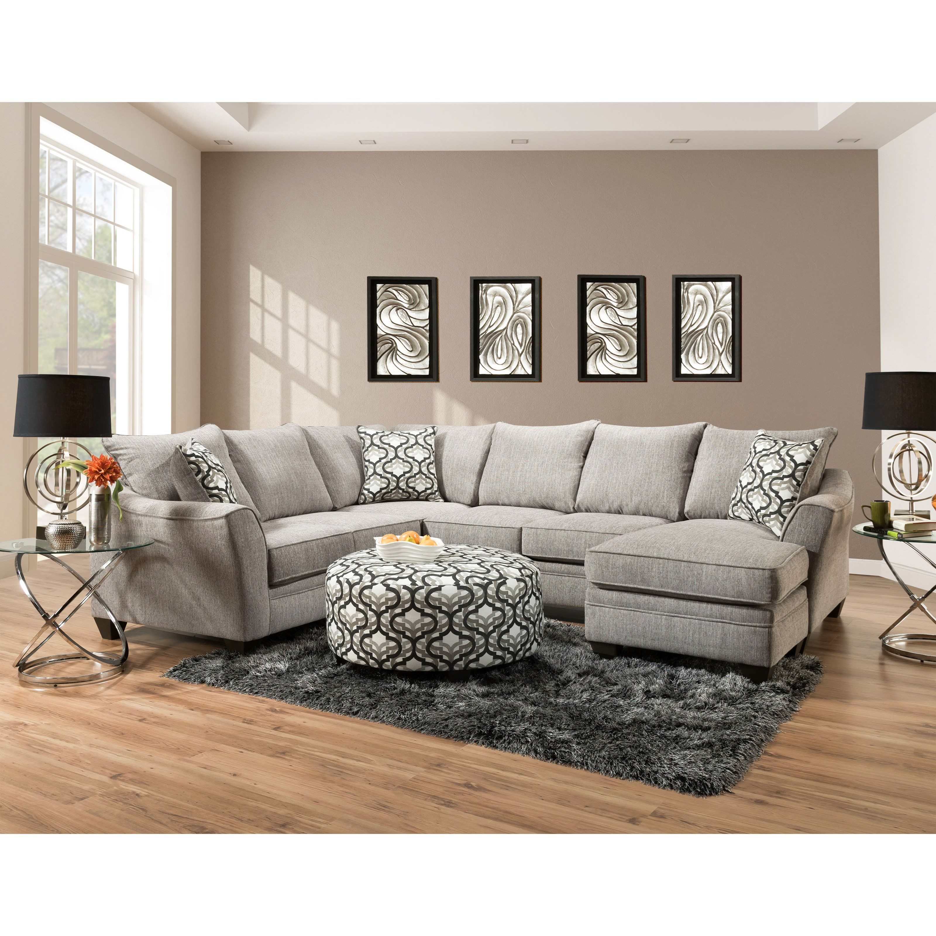 4810 5 Seat Sectional Sofa with Chaise by Peak Living at Prime Brothers Furniture