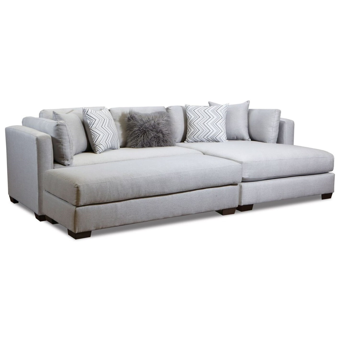 5500 Chaise-Inspired Sectional Sofa by Peak Living at Prime Brothers Furniture