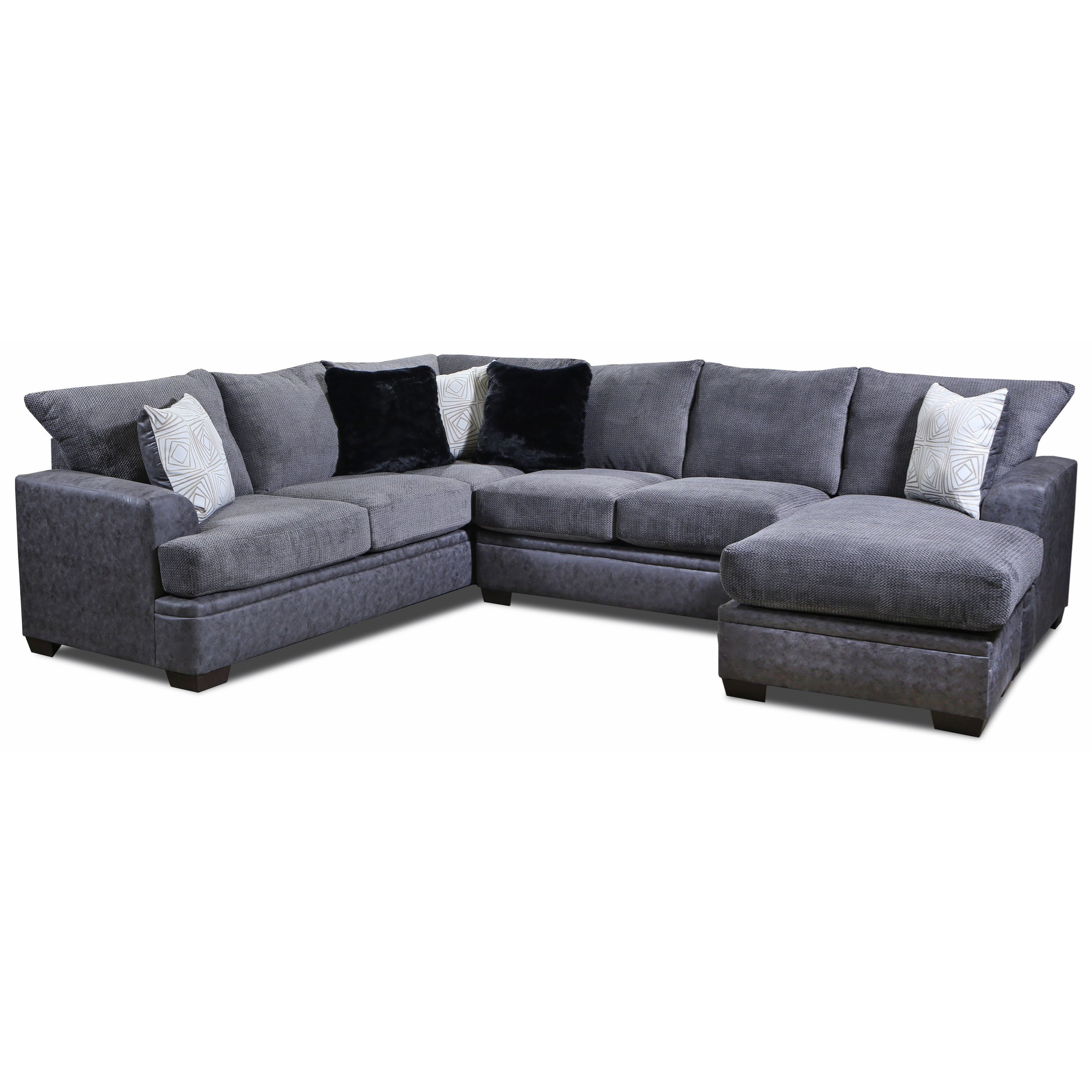 6800 Sectional Sofa with Right Side Chaise by Peak Living at Prime Brothers Furniture