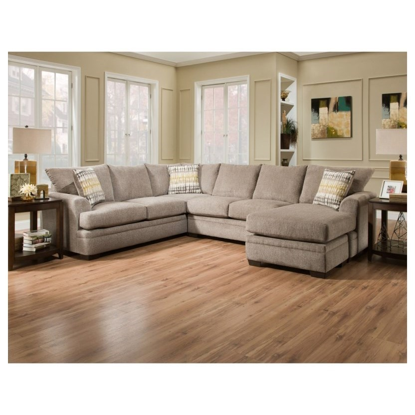 6800 Sectional Sofa with Right Side Chaise by Peak Living at Wayside Furniture
