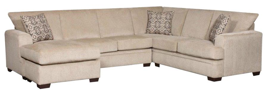 6800 Sectional Sofa with Left Side Chaise by Peak Living at VanDrie Home Furnishings