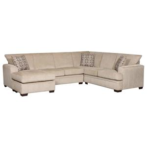 American Furniture 6800 Sectional Sofa with Left Side Chaise