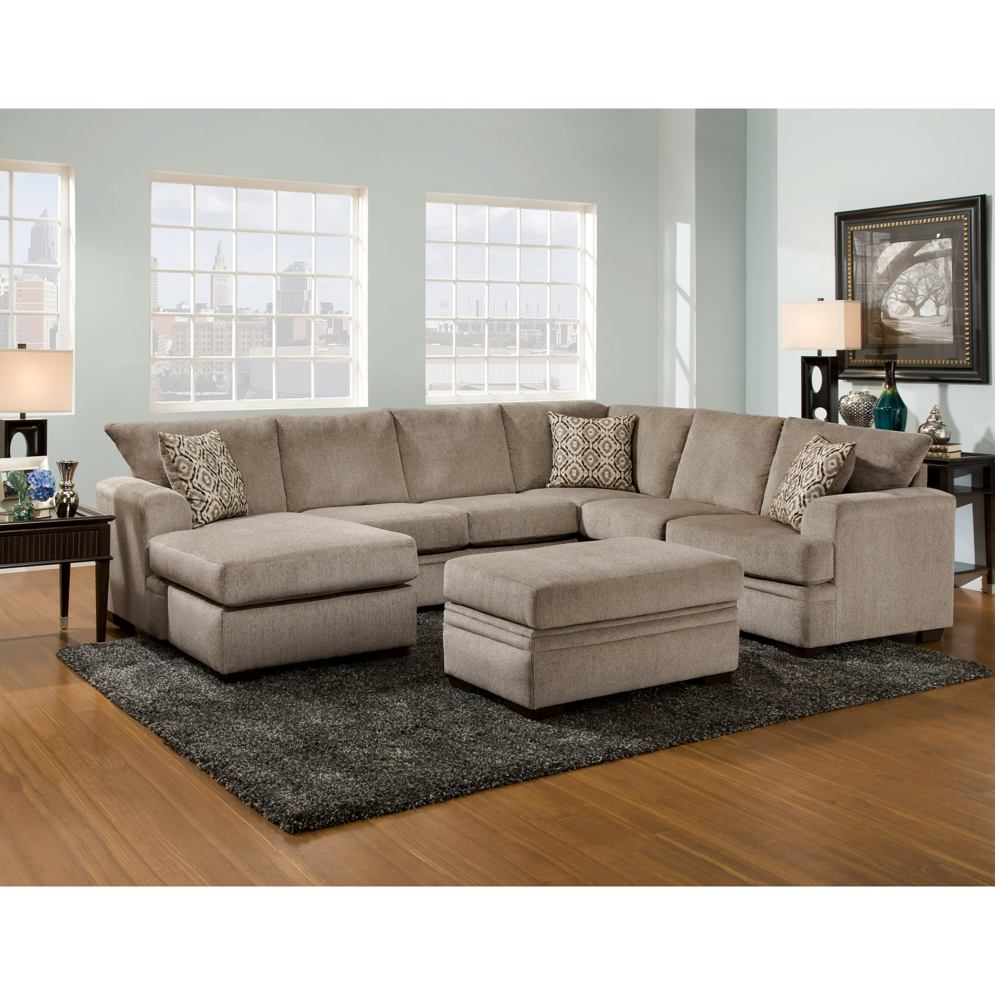 6800 Sectional Sofa with Left Side Chaise by Peak Living at Prime Brothers Furniture