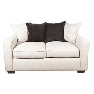 Modern Loveseat with Accent Pillows