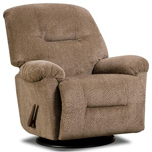Casual Rocker Recliner with Swivel Base