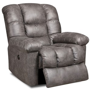 Recliner with Casual Sophisticated Furniture Style