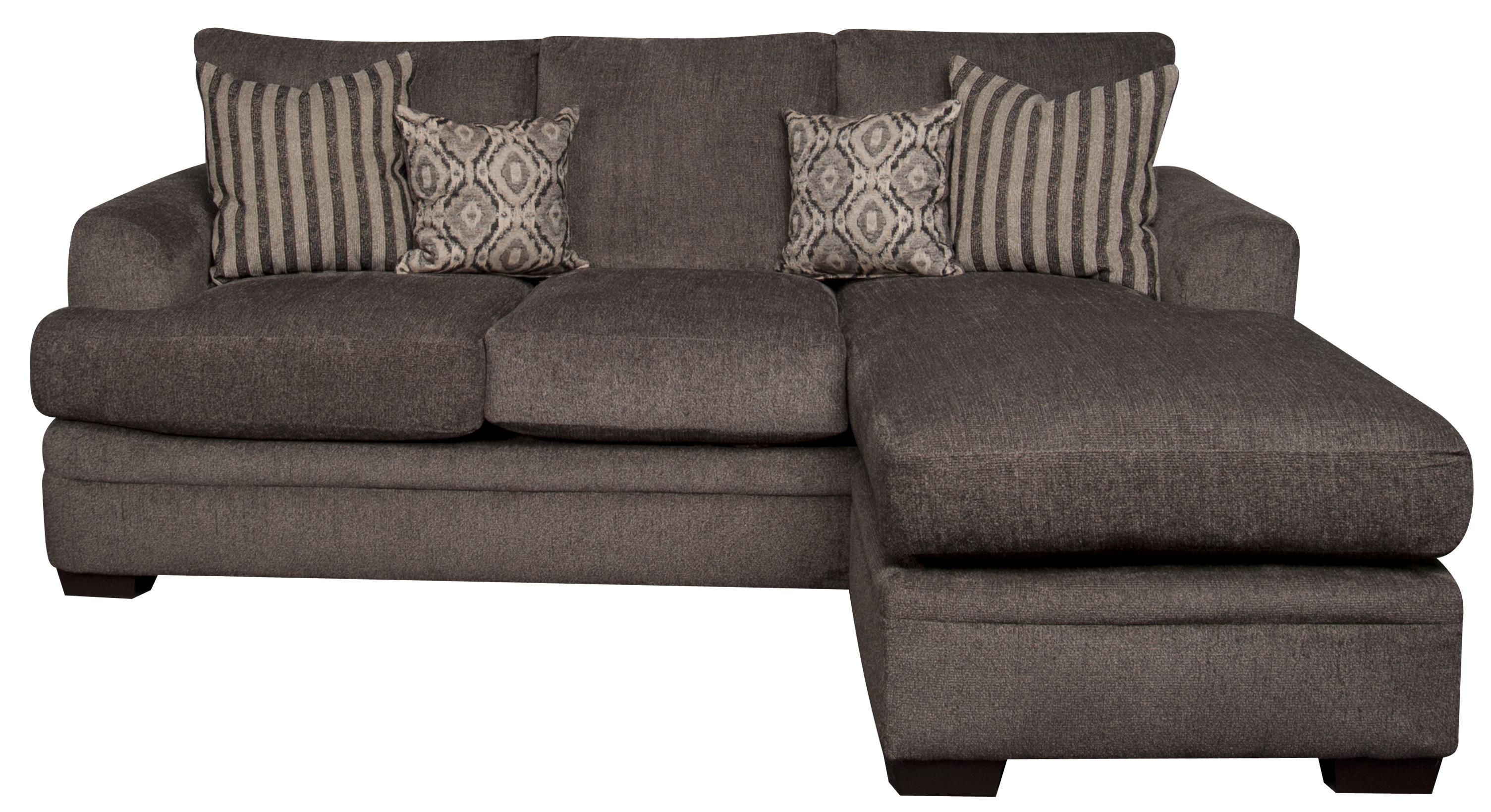Eva Eva Sofa Chaise with Accent Pillows by Peak Living at Morris Home