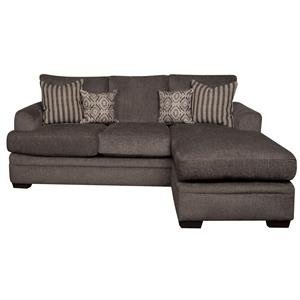 Sofa Chaise with Accent Pillows