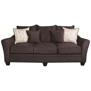 Casual Sofa with Decorative Accent Pillows