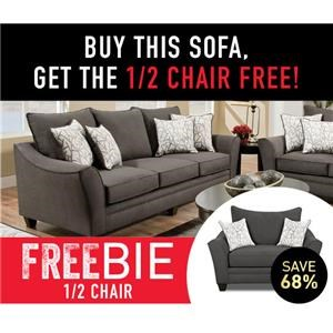 Sofa with Freebie Chair and a Half!