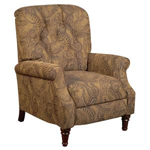 Cottage Styled Recliner with Tufted Seat Back