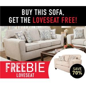 Upholstered Sofa with Freebie Loveseat!