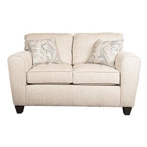Traditional Loveseat with Accent Pillows