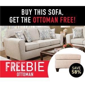 Sofa with Freebie Ottoman!