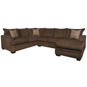 Contemporary Sectional Sofa with Accent Pillows