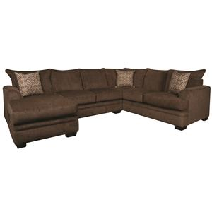 Sectional Sofa with Accent Pillows and Chaise