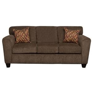 Contemporary Sofa with Decorative Accent Pillows
