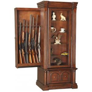 American Furniture Classics Gun Cabinets Gun/Curio Cabinet with Slider Cabinet Combo